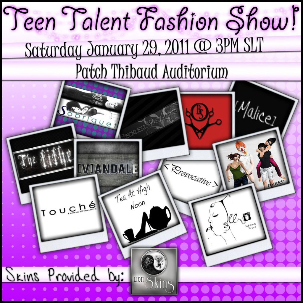 2011 Teen Talent Fashion Show Poster The Mind Musings
