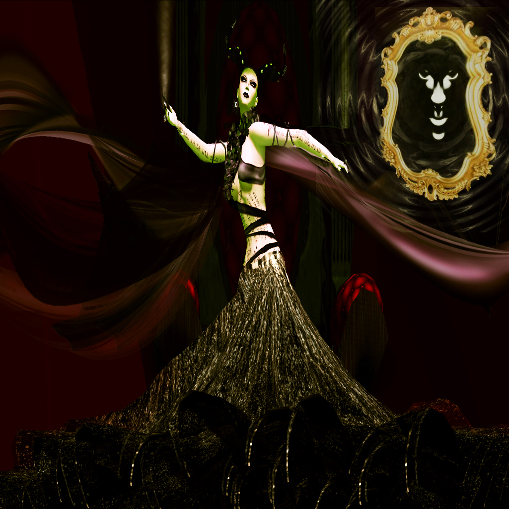 FEMME FATALThe Evil Queen from Snow White consulting the magic