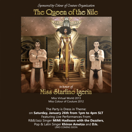 The Queen of the Nile  - In Honor of Starline Igeria