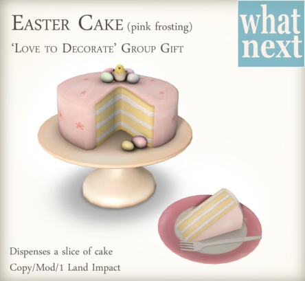 {what next} Easter Cake Gift for LTD