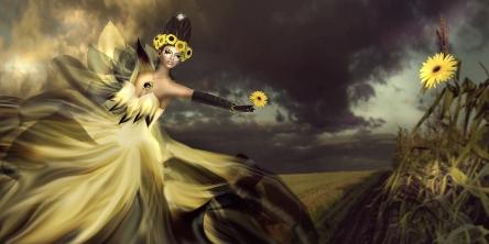 4 Sunflower Scene